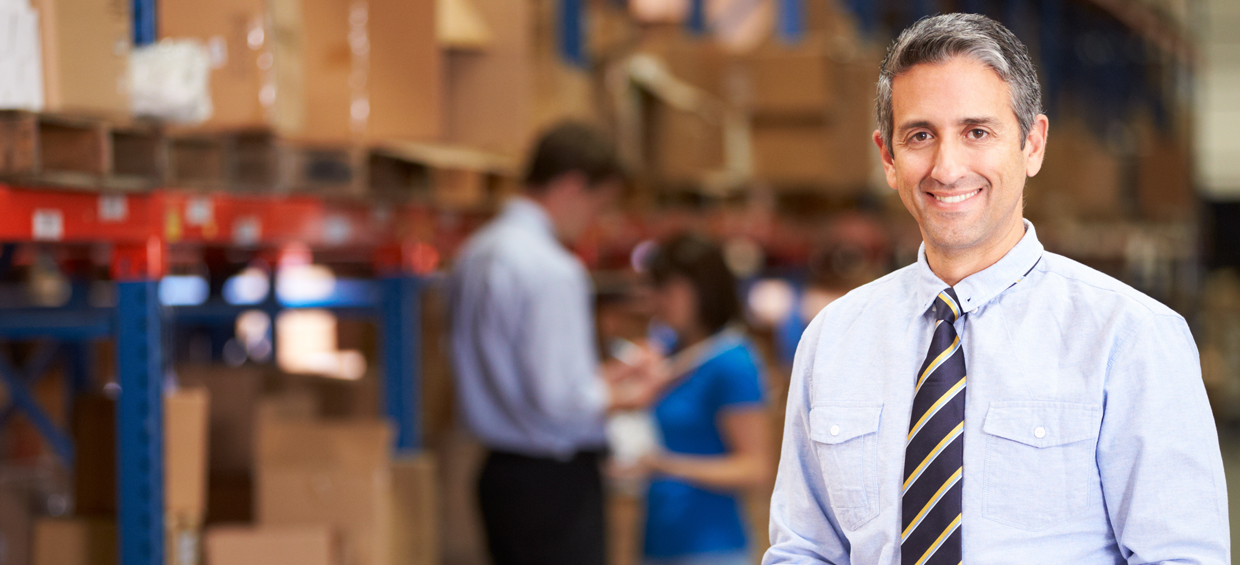 Man in warehouse - Sheer Velocity Supply Chain Executive Recruiter